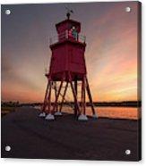 Herd Groyne Lighthouse On The Water S Acrylic Print