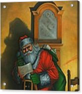Here Comes Santa Claus Acrylic Print
