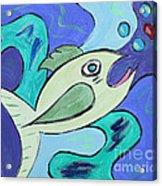 Here Fishy Fishy Acrylic Print