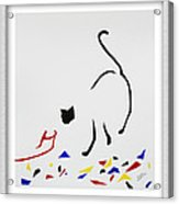 Here Kitty Kitty Acrylic Print by Eve Riser Roberts