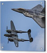 Here You Go Air Force Acrylic Print by Jeff Swanson