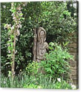 Hereford Cathedral Garden Acrylic Print