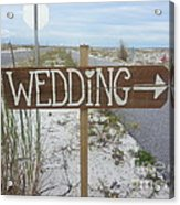 Here's The Wedding Acrylic Print