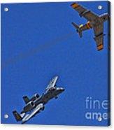 Heritage Flight A-10 F-86 Acrylic Print