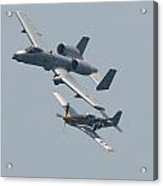 Heritage Flight A10 And P51 Acrylic Print
