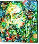 Herman Melville Watercolor Portrait Acrylic Print