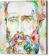 Herman Melville Watercolor Portrait.1 Acrylic Print
