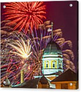 Hermann Mo Courthouse On July 4th Acrylic Print