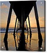 Hermosa Pier At Sunset Acrylic Print