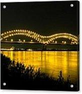 Hernando De Soto Bridge 002 Acrylic Print by Lance Vaughn