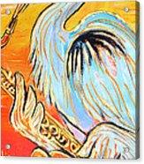 Heron The Blues Acrylic Print