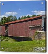 Herr Mill Covered Bridge Acrylic Print