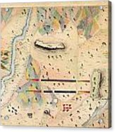 Herreras Map Of A Mexican War Campaign 1848 Acrylic Print