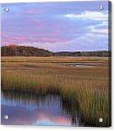 Herring River Marsh Cape Cod Autumn Sunset Acrylic Print