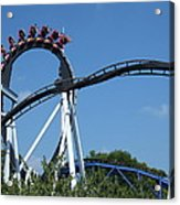 Hershey Park - Great Bear Roller Coaster - 121213 Acrylic Print by DC Photographer