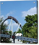 Hershey Park - Great Bear Roller Coaster - 121214 Acrylic Print by DC Photographer