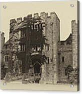 Hever Castle Yellow Plate Acrylic Print by Chris Thaxter