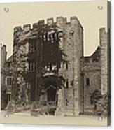 Hever Castle Yellow Plate Acrylic Print