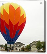 Hey Mom There Is A Big Balloon In Our Driveway Acrylic Print