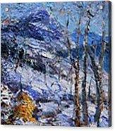 Heystack In The Snow Acrylic Print