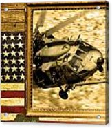 Hh-60 Pave Hawk Rustic Flag Acrylic Print