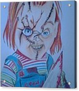Hi I'am Chucky  Wanna Play Acrylic Print