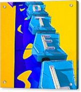 Hi-lander Motel Acrylic Print by Gail Lawnicki
