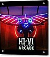 Hi-vi Arcade Acrylic Print