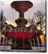 Hialeah Fountain Acrylic Print by Andres LaBrada