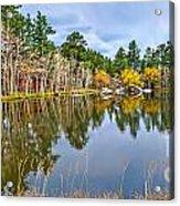 Hiawatha Lake Panorama Acrylic Print