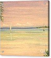 Hibiscus Cove Acrylic Print by The Beach  Dreamer