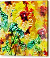 Hibiscus Impressionist Acrylic Print