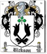 Hickson Coat Of Arms I Kerry Ireland Acrylic Print