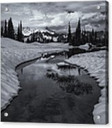 Hidden Beneath The Clouds Acrylic Print