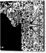 Hidden By Da Mask Acrylic Print