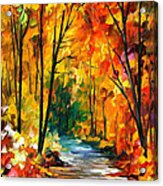 Hidden Emotions - Palette Knife Oil Painting On Canvas By Leonid Afremov Acrylic Print