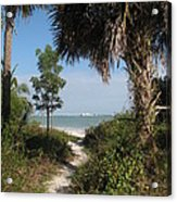 Hidden Path To The Beach Acrylic Print