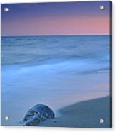Hidden Stone At Sunset Acrylic Print