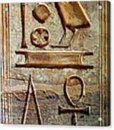 Hieroglyphics At Amada Acrylic Print