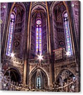 High Altar And Stained Glass Windows  Acrylic Print