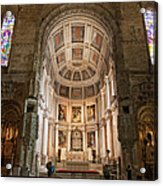 High Altar In Church Of Jeronimos Monastery Acrylic Print