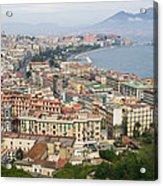 High Angle View Of A City, Naples Acrylic Print