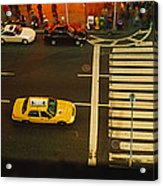 High Angle View Of Cars At A Zebra Acrylic Print