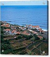High Angle View Of Houses At A Coast Acrylic Print