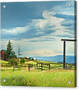 High Country Farm Acrylic Print by Theresa Tahara
