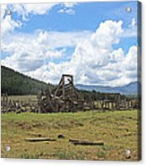 High Country Roundup The Old Days Acrylic Print