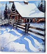 High Country Snow Acrylic Print