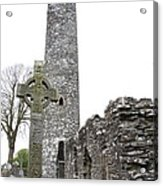 High Cross And Round Tower Monasterboice Acrylic Print