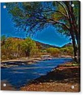 High Desert River Bed Acrylic Print