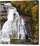 High Falls In The Dupont State Forest Acrylic Print